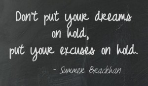 put excuses on hold